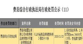 无证擅自预售商品房?临沂费县利城置业被行政处罚34.4万元