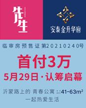 安泰金升华府-首付3万,5月29日认筹启幕,建面约41-63平米青春公寓